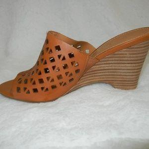 Franco Sarto Shoes - Franco Sarto Tan Leather Wedges